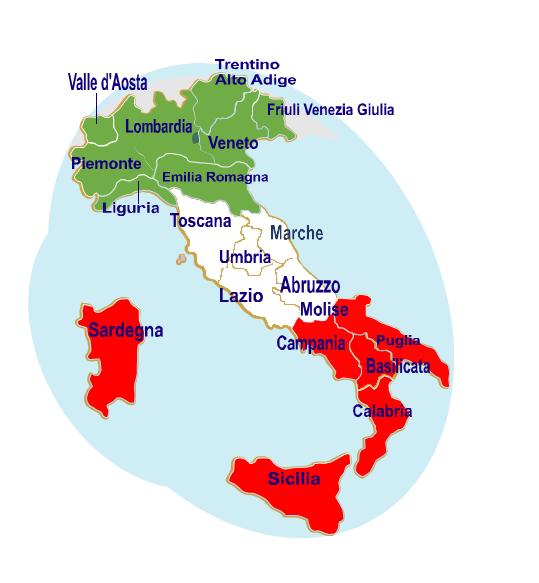Cartina Italia Regioni E Capoluoghi.Geografia Dire Fare Partire Lezione 1