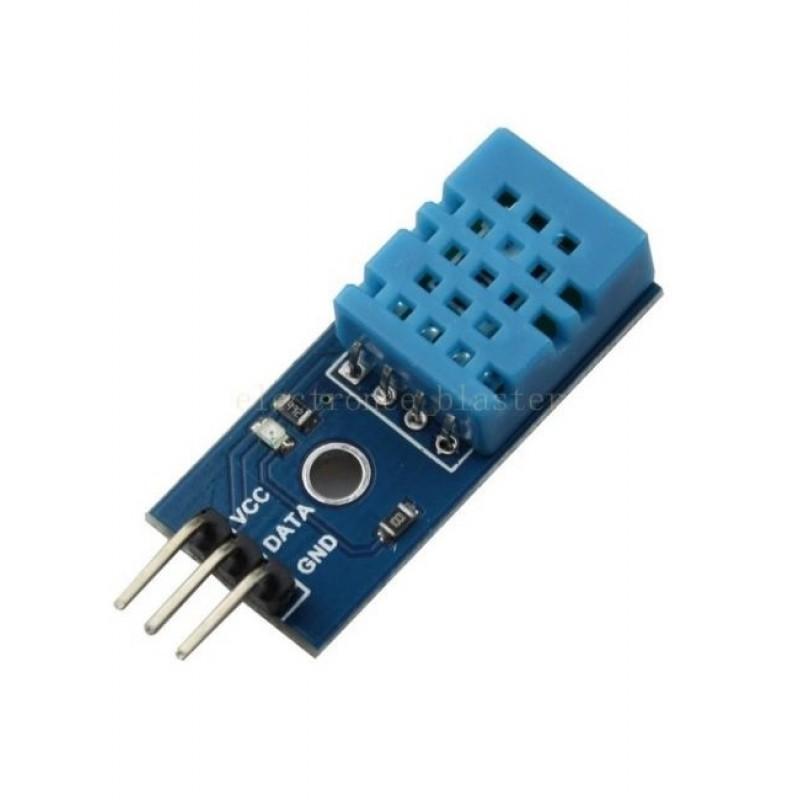 pinagem de um modulo sensor DHT11 disponivel no mercado