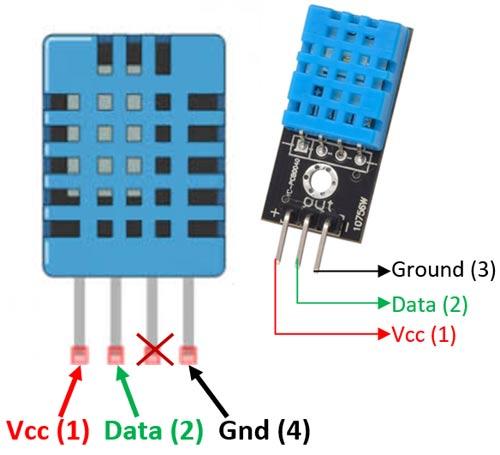 pinagem de outros modulos DHT11