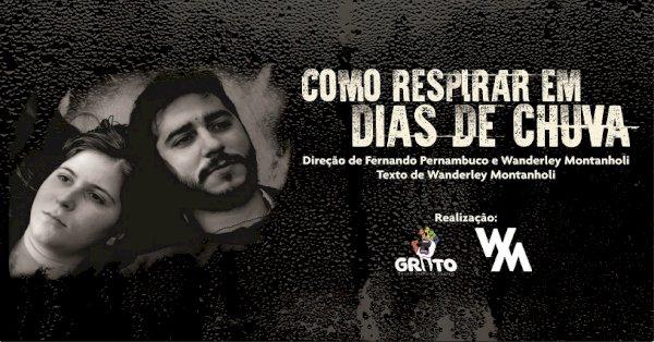 CARTAZ DA PEÇA COMO RESPIRAR EM DIAS DE CHUVA