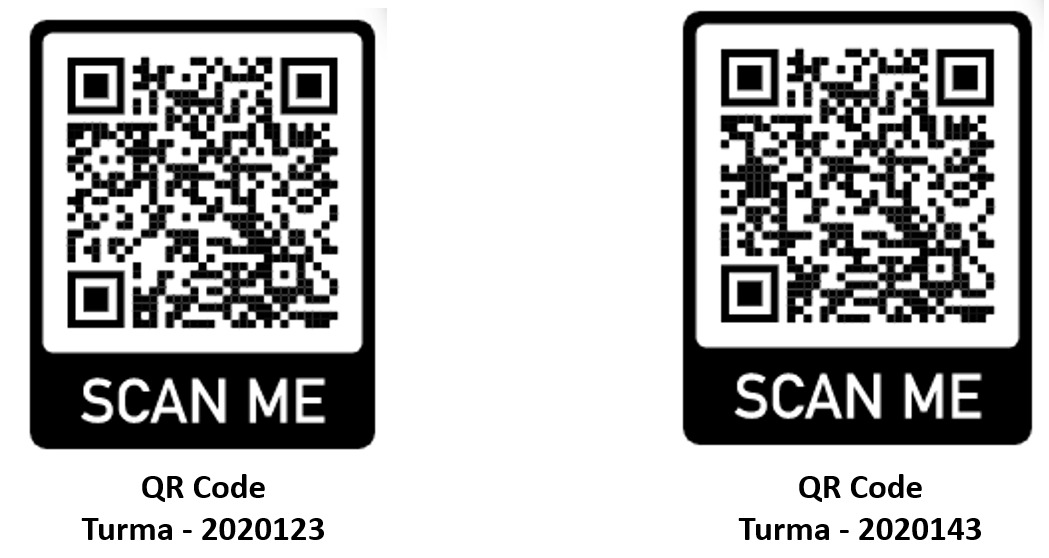 QR Code dos ambinetes virtuais.