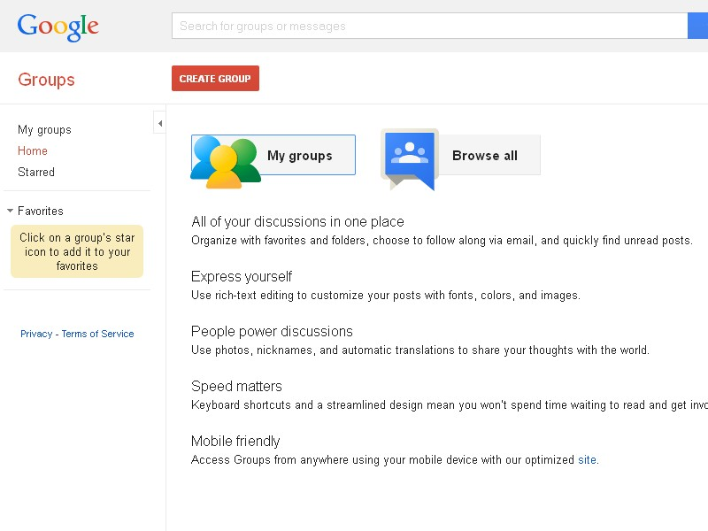 Google Groups Preview
